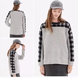 Madewell buffalo plaid check sweatshirt sweater